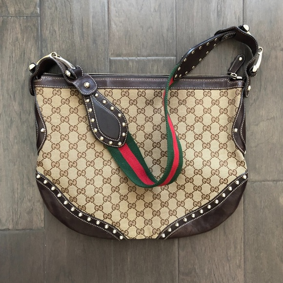 335b943c7e3d Gucci Bags | Authentic Gg Canvas Web Studded Pelham Bag | Poshmark
